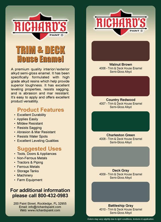 4000 Trim & Deck Color Card
